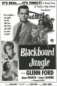 blackboard jungle movie poster